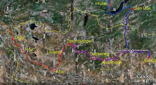 Mongolia: UB - Avarga - Kharkhorin - Tosontsengel - Uliastay - Altai - Hovd - Olgiy - Tsagaannuur