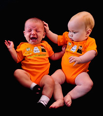 A Halloween Portrait Gone Awry (Jeff Clow) Tags: family halloween kids babies cousins touch crying caring infants jeffrclow heritage2011