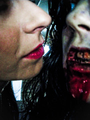 irresistable kiss (twistedtwins) Tags: rot film set flesh death scary blood kiss zombie indy lips independent brains gore horror undead zombies necrophilia shortfilm rottingflesh horrorfilm zombiemakeup scarymovie necrophiliac twistedtwins jensoska