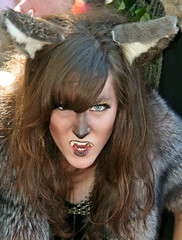 Pretty-eyed She-Wolf (wyojones) Tags: woman girl beautiful beauty face look animal festival mouth eyes skins wolf texas expression lips trf bite faire renfaire brunette renaissancefestival fangs facepaint handsandknees renaissance renaissancefaire renfest element snarl rennie shewolf texasrenfest texasrenaissancefestival plantersville animalskins wolfwoman toddmission toddmissiontexas wyojones elementofair