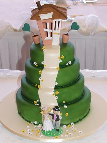 Funky Wedding Cake