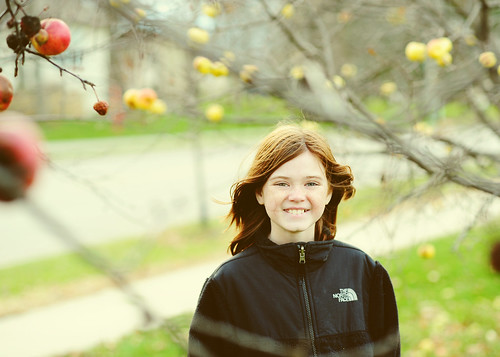 Katie and the apple trees.
