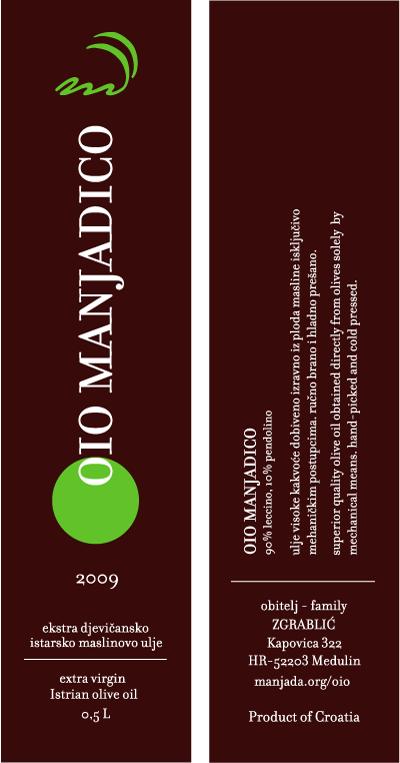 Extra virgin olive oil from Medulin, Croatia
