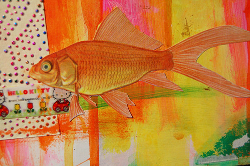 Detail: Gold fish in The Acrylic Ocean (Copyright Hanna Andersson)