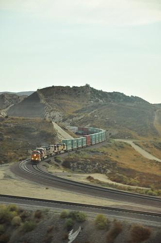 Train dans Mojave