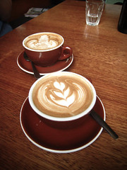 Some joys of life (Huey Yoong) Tags: cup coffee breakfast cafe drink australia melbourne victoria brunch latte saucer southmelbourne foodphotography coffeeart stali canonixus850i