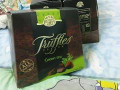 綠茶松露巧克力的外盒