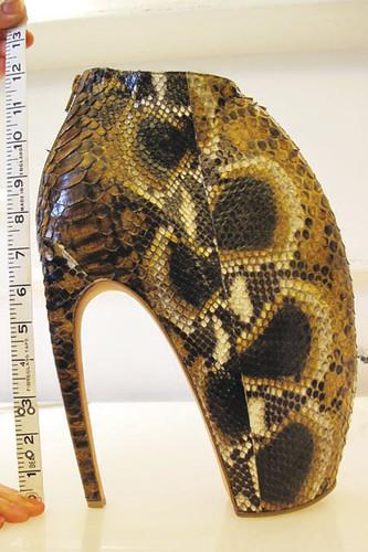 Alexander Mc Queen armadillo python shoe
