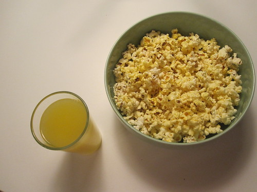 Orangina and popcorn