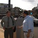 Hammonton, NJ Todd Barman tours downtown with Jim Donio