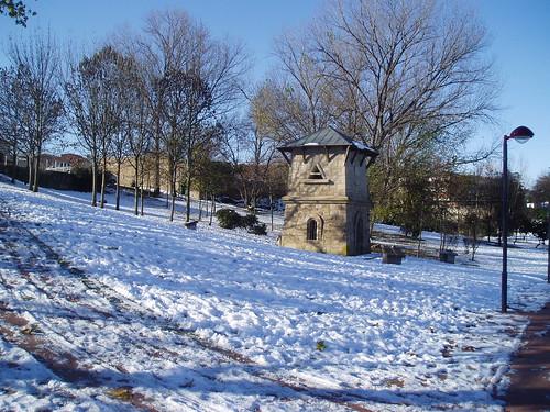 Parque del Ebro nevado Logroño