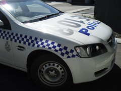 WA Police Marked Holden Commodore Sedan Front. (Jaffa264) Tags: blue red ford wagon force paddy australian police australia led falcon western toyota commodore wa pursuit holden marked hilux lightbar