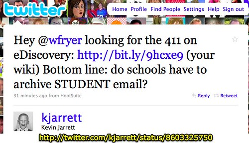 Tweet from Kevin Jarrett
