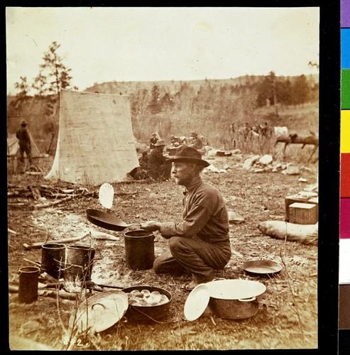 John, the Cook, baking slapjacks