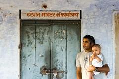 The rustic backdrop (niyatee) Tags: india station rural women village railway haryana