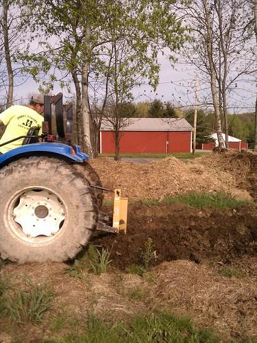Plowing the garden