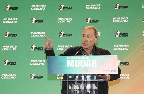 Pedro Passos Coelho almoço em Alcobaça