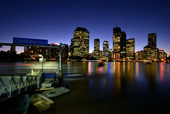 Thornton Street Ferry (fredfunk05) Tags: city blue skyline night lights nikon dusk australia brisbane bluehour brisbanecity d60 brisbaneskyline brisbanedusk
