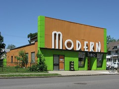 Modern (altfelix11) Tags: orange green minnesota sign modern restaurant cafe minneapolis moderne chicagoavenue vintagesign 32ndstreet streamlinemoderne moderncleaners moderntimescafe