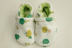 ~SALE~ *Newborn*  Japanese Hedgehog OBV Lined Booties