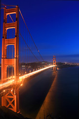 Golden Gate V (RaulHudson1986) Tags: sanfrancisco california city longexposure bridge winter sky beach beautiful night golden bay noche gate francisco exposure exterior view pacific pacificocean goldengatebridge vistas sausalito frisco altura estadosunidos 2014 eeuu largaexposicin 550d