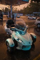 Rain (Carlows) Tags: atardecer lluvia spyder canam motocicletas brp