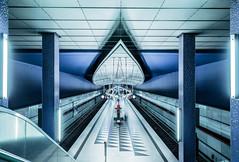Space Station X (*Capture the Moment*) Tags: 2015 architecture architektur farbdominanz hasenbergl häuserwohnungen innenarchitektur insightview interiordesign munich subway ubahn blau blue