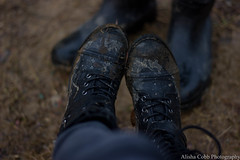 Hiking Aftermath (Alisha Cobb Photography) Tags: combatboots boots mud hike