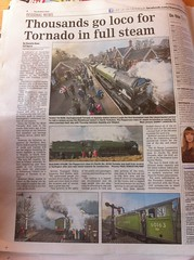 Tornado in the Papers. (O'neill 93) Tags: a1 a1class 462 tornado uk england europe mainline railways news nawspaper lner br brgreen flickr 60163 steam steamlocomotive timetable timetablesteam mainlinesteam 50years 2017 newspaper