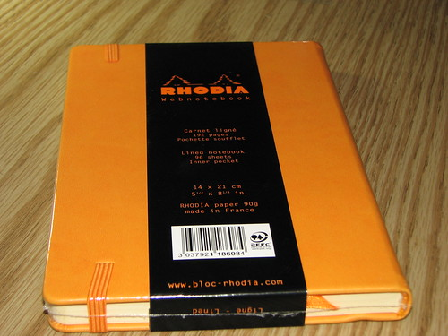 Rhodia Webnotebook Back