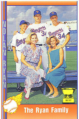 Baseball Card Bust Nolan Ryan 1991 Pacific Trading Cards