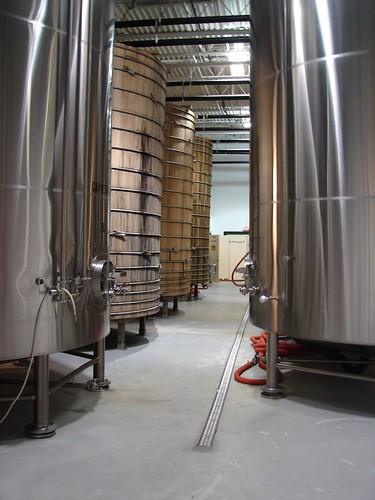 Dogfish Head brewerys fermentation tanks