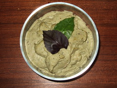 White Bean Purple Basil Hummus