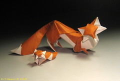 Foxes / Co (ORI_Q) Tags: art wet paper cub design origami explore fox fold curve 48 vixen quyet co giy gp htquyet