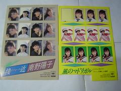 原裝絕版 1986年 6月30日 南野陽子 Yoko Minamino 春景色 黑膠唱片 原價  2800YEN 中古品 4