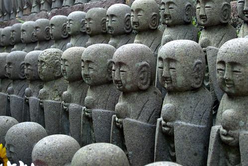 Mizuko Jizo statues at Kamakura