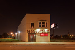 Pest Control Supply Co., KILL (metroblossom) Tags: usa building night kill michigan detroit study westside isolated img4365 pestcontrolsupplyco
