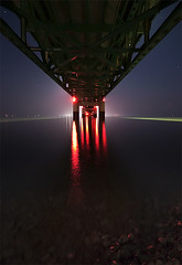 Mackinac Bridge (Darien Chin) Tags: bridge night mi long exposure michigan sigma lakemichigan 1020mm lakehuron mackinac d90 wwwdarienchincom