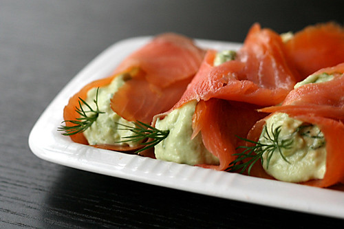 ... spoon onto smoked salmon and gently roll up serve immediately easy