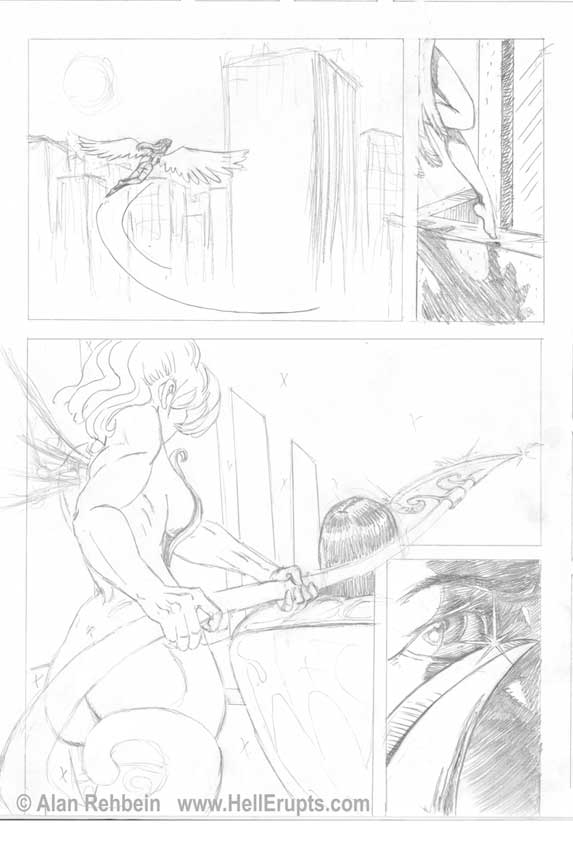 Hell Erupts pencil preview page 2