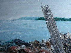 Painting of the Bras D'Or Lake at Baddeck