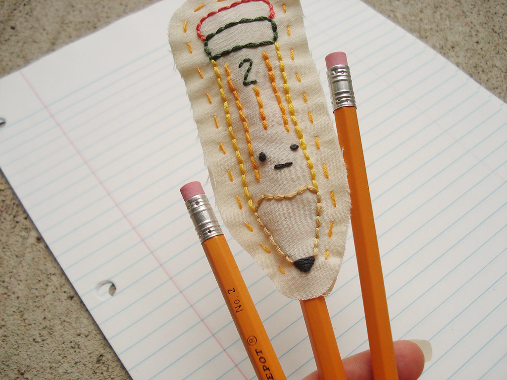 PENCIL TOPPER EMBROIDERY