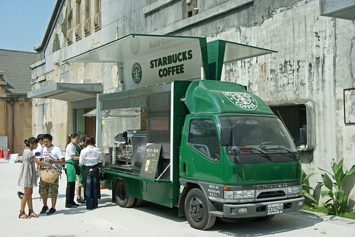 Mobile Starbucks on a truck