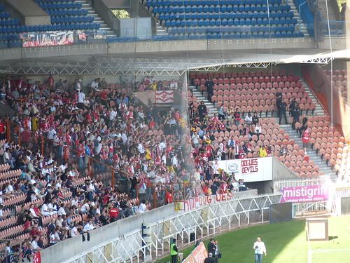 Supporters lillois lors de PSG 3-0 Lille