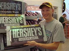 Gigantic Chocolate Bar Tourist Shot