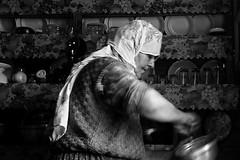 6 - Grandma, preparing food for her last grandchild ( noborders) Tags: blackandwhite bw mountains kitchen turkey kitchens noiretblanc trkiye blacksea karadeniz grandmothers eastturkey monochromia northernturkey aug09 anzer lumixlx3 aboverize kuzeytrkiye anzer09