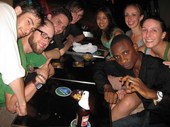 A night on the town in Kowloon with our new friends that we picked up while partying at the local 7-Eleven