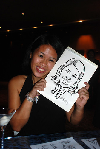Caricature live sketching for The Law Society of Singapore - 7
