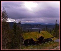 Cabin with great view against Buenvannet, Blefjell, Norway (Odd :-)) Tags: autumn mountain nature beautiful norway norge cabin kongsberg hytte landskap blefjell sodroof fjellet torvtak liatoppen