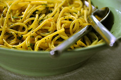 Spaghetti med hvidløg, persille og sort peber